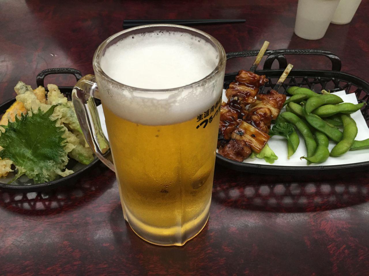 登山後のビールは最高!