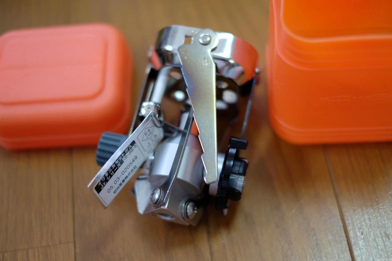 イワタニカセットガス ジュニアバーナー。畳むとコンパクトです。